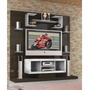 Estante Multivisão Paraty Tv até 42 e Painel Madeira Integrado e Suporte Fixação no Painel