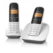 Telefone sem Fio com Identificador de Chamadas e Ramal Siemens Gigaset A390 Duo Branco