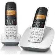 Telefone sem Fio Gigaset Dect 6.0 Viva-Voz Identificador e Ramal A490 Duo Branco
