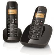 Telefone sem Fio Gigaset Siemens A495 Duo Preto Secret.Eletrônica Identificador e Ramal