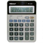 Calculadora de Mesa Procalc Pc241 12 Díg Arredondamento Solar/Bat Tecla Roll-Over