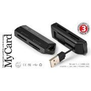Leitor e Gravador Portátil Cartão de Memória Mycard Cr801P
