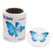 Mídia DVD-R Elgin Printable 4.7 GB/120 min/8 X (Tubo com 100 unidades)