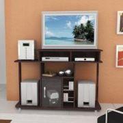 Rack para TV/DVD Multivisão - PALAS com Portas de Vidro Marfim