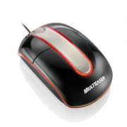 Mouse usb optico preto  piano c/ iluminação Multilaser Steel MO132