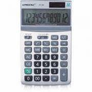 Calculadora de Mesa Procalc Pc263 12 Díg Grandes Visor Dobrável Solar/Bateria