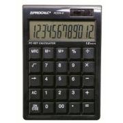 CALCULADORA DE MESA PROCALC PC234K - 12 díg GRANDES., cor preta, teclas tipo teclado de computador, solar/bat. (G10)