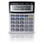 Calculadora de Mesa Procalc Pc120 10 Díg. Grandes Solar/Bateria Visor Inclinado