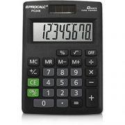 Calculadora de Mesa Procalc Pc246 8 Díg Solar/Bateria Visor Inclinado Mesa Compacto