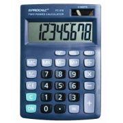 Calculadora de Mesa Procalc PC818 - 8 dígitos grandes, solar/bateria, visor grande inclinado