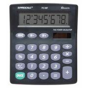 Calculadora de Mesa Procalc PC087 - 8 dígitos, solar/bateria, teclado de borracha