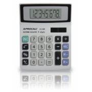 Calculadora de mesa Procal PC086 - 8 dígitos, solar/bateria, mesa compacto