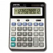 CALCULADORA DE MESA ZETA ZT-611 - 12 dígitos grandes, solar/pilha (G10), Arredondamento, GT, Tamanho EXTRA grande
