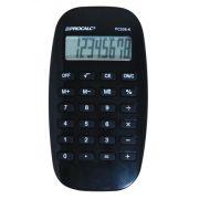 Calculadora de Bolso Procalc Pc306 Preta 8 Díg Lcd Dot Matix Design Moderno