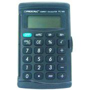 Calculadora de Bolso PC068-B - 8 dìgitos, bateria, capa transparente, cor preta,(G10)