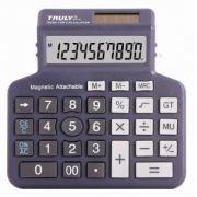 Calculadora de Mesa Truly 339-10 10 Díg Solar/Bateria Imã Adere Superfícies Metálicas