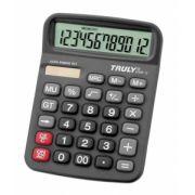 Calculadora de mesa Truly 836B-12 - 12 dígitos, solar/pilha AA (1.5V), visor inclinado