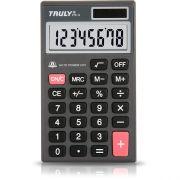 Calculadora de Bolso Truly 216-8 8 Díg Estilo Executivo Visor Solar/Bateria G10