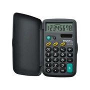 CALCULADORA DE BOLSO TRULY 265A-8 - 8 díg, visor grande, capa protetora dobrável, solar/bateria (G10)