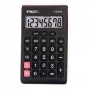 Calculadora de Bolso Truly 283 8 Díg Visor e Teclas Grandes Bateria (G10)