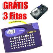 Etiquetador Rotulador Eletrônico Casio Kl-60 Visor 4 Caracteres e 1 Linha Fitas 6 9 12mm + 3 fitas