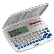 Tradutor Eletrônico Franklin TG115 8 Idiomas Português, Inglês, Espanhol, Italiano, Alemão, Francês, Chinês, Japonês, Calculadora, Conversor de moedas e métrico