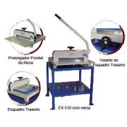 Guilhotina Semi Industrial Mater Plus Excentrix EX510 - Comp. do Corte: 510 mm, Dim. da Base: 630x720, Cap. de Corte: 300 folhas, Peso: 60 k