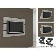 Painel Multivisão Móbile, Ciliegio para TV LCD/Plasma/LED de até 46´ (Acompanha Suporte para fixação da TV no Painel)