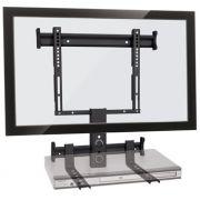 Suporte fixo para TV LCD/Plasma/LED de 19´´ a 40´´ + suporte para DVD ou Acessórios Multivisão  STPF66 COMBO Preto