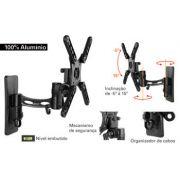 Suporte articulado MI-972 com inclinação para TV LCD/Plasma/LED de 10 a 32´´ - Multivisão