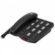 Telefone com Fio Tok Fácil Preto com Teclas Grandes Intelbras