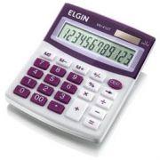 Calculadora Mesa Elgin Mv4127 12 Díg Solar/Bateria G10 12,5x10x1,5cm 150g Branco/Lilás