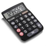 Calculadora de Mesa Elgin Mv4133 8 Dig Solar e Bateria G10 Dim. 15x10,5cm Preta
