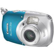 Câmera Digital Canon D10 46Rd10000000 12,1mp Subaquática até 10M e Cartão 2gb Prata/Azul