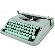 Máquina de escrever manual Hermes Baby Branca Semi-nova