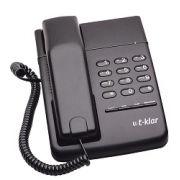 Telefone com Fio T-Klar Tk-500 Preto Chave Duas Entradas Monofone Lado Direito e Esquerdo
