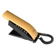 (FORA DE LINHA) Telefone com Fio T-Klar TK-BEO Preto e Amarelo, Designer moderno e diferenciado, teclado alfanumérico, ajuste de volume da campainha, redial.