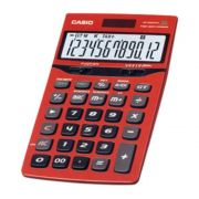 Calculadora de Mesa Casio Jf-200Tv Vermelho Solar e Bateria