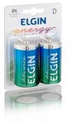 Pilha Elgin Alcalina D Blister com 2 Unid Cod. 82157