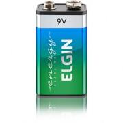 Bateria Elgin Alcalina 9V Blister com 1 Bateria