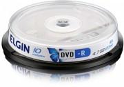Mídia DVD-R Elgin 4.7 GB/120 min/16 X (Pino com 10 unidades)