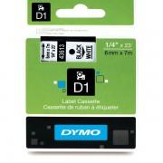Fita Poliéster Dymo p/ Rotulador Eletrônico 6 mm x 7 Mts Preto no Branco - 43613