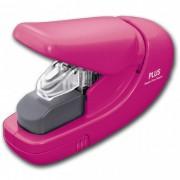 (FORA DE LINHA) Grampeador Sem Grampo Plus Japan PL-SL106AB - entrelaça o papel até 5 folhas 75g, Pink