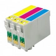 Kit 3 Cartuchos Epson Amarelo T1034, Ciano T1032 e Magenta T1033 - Compatibilidade: T40W / TX550W /TX600FW