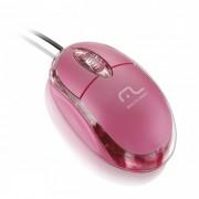 Mouse Multilaser Óptico Classic Box Rosa MO181