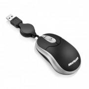 Mini Mouse Multilaser Emborrachado Retrátil USB MO115 / MO117 / MO119