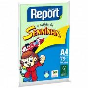 Papel Sulfite Report Seninha Verde A4 Pacote 100 folhas