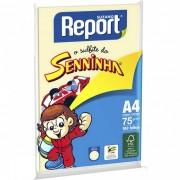 Papel Sulfite Report Seninha Amarelo A4 Pacote 100 folhas