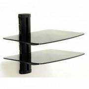 Suporte Loctek  PDH104 para DVD/BluRay com 2 bandejas de vidro c/ trava de segurança