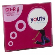 CD-R Youts Slim Colorful Pink